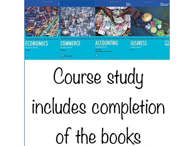 Complete course study on Mathematics and Commerce subjects for IGCSE Edexcel and Cambridge